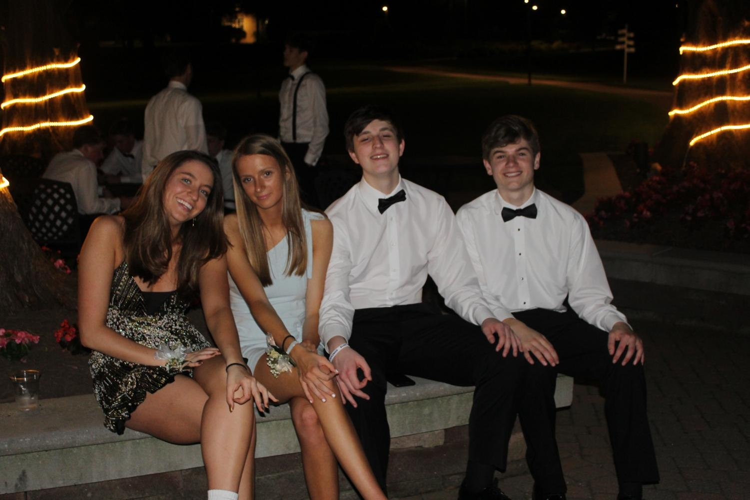 Juniors Sammy Hermans and Nora Gibson with their dates.