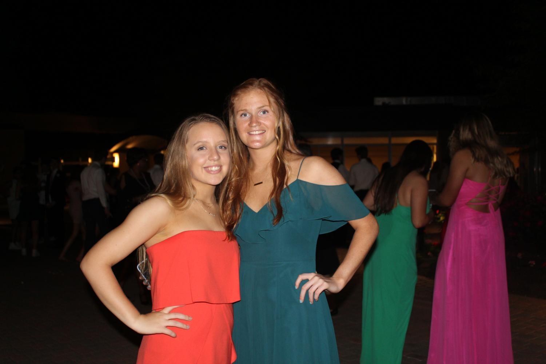 Senior Jenny Olcott with junior Val Kuzma at the dance.