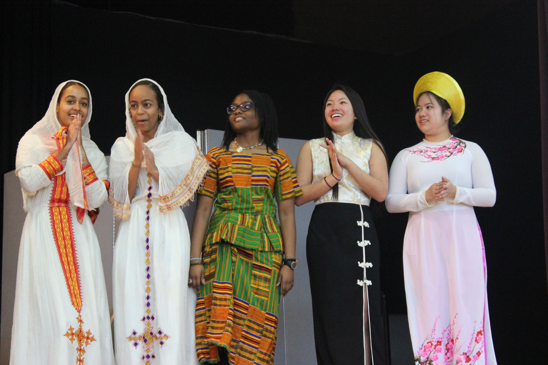 A variety of dress from different countries.