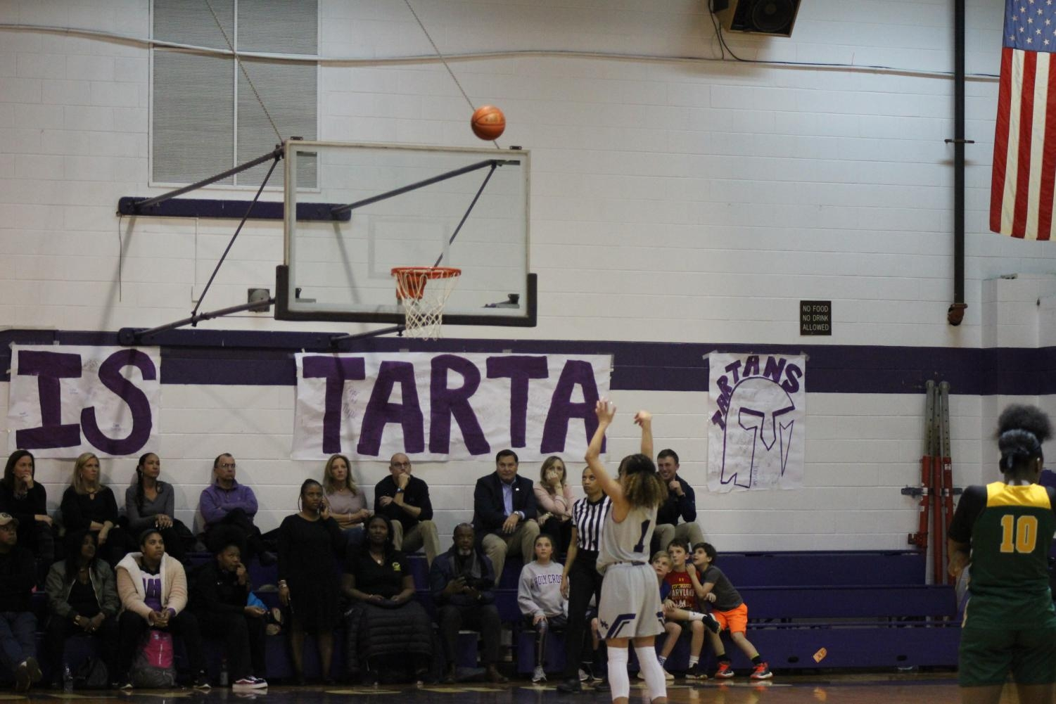 Senior Bria Fuller makes another perfect basket after the varsity game goes to 1 and 1 penalties.