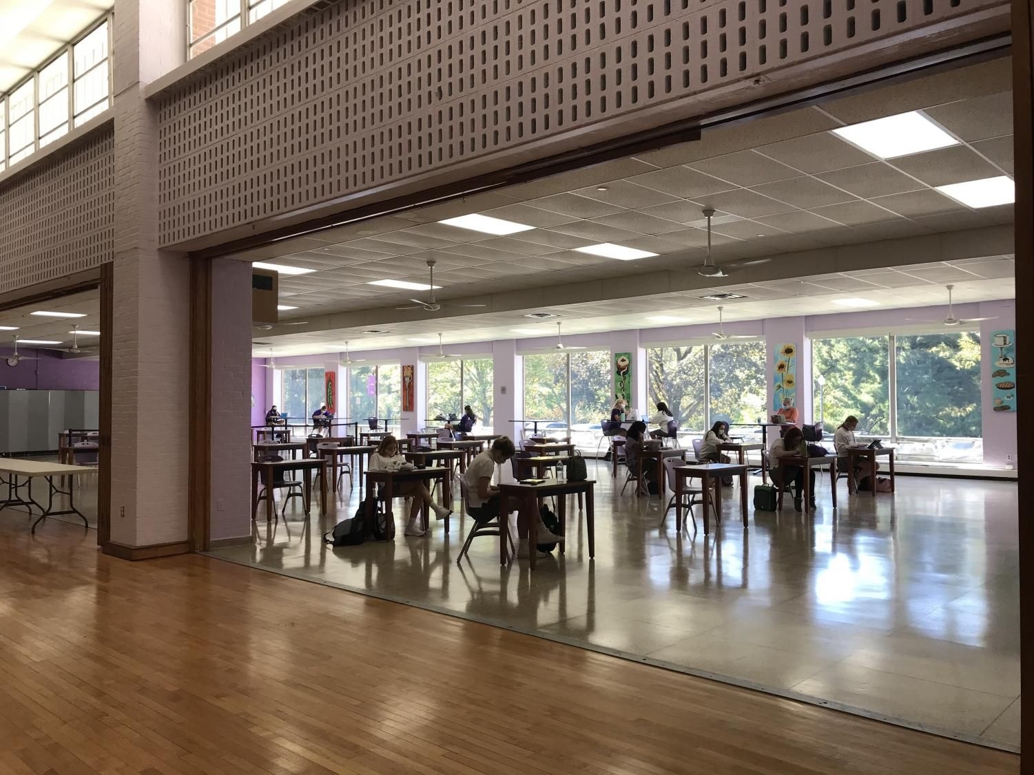 Study hall gathers in the student commons.