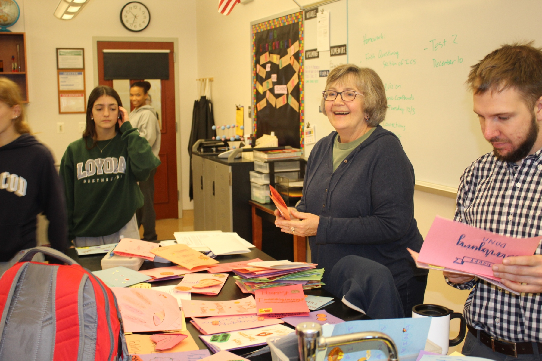 Cards created as part of Holy Cross Gives Thanks