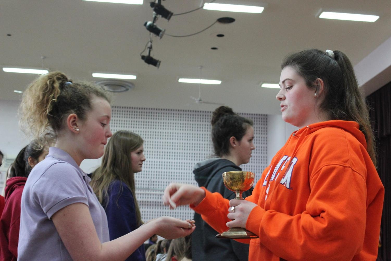 Freshmen Ashley Nalls receiving communion