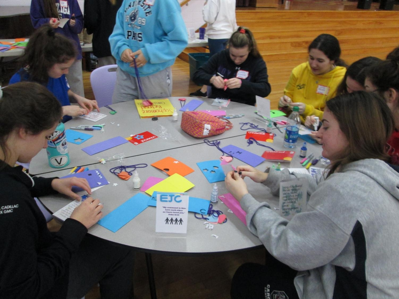 Sophomore retreat activity