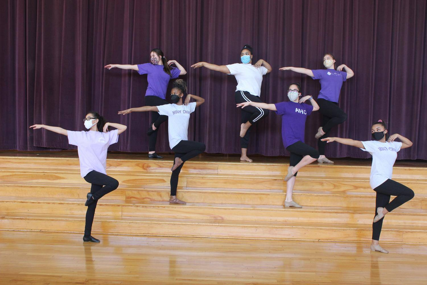 Adrenaline dance team together for their first in-person rehersal.