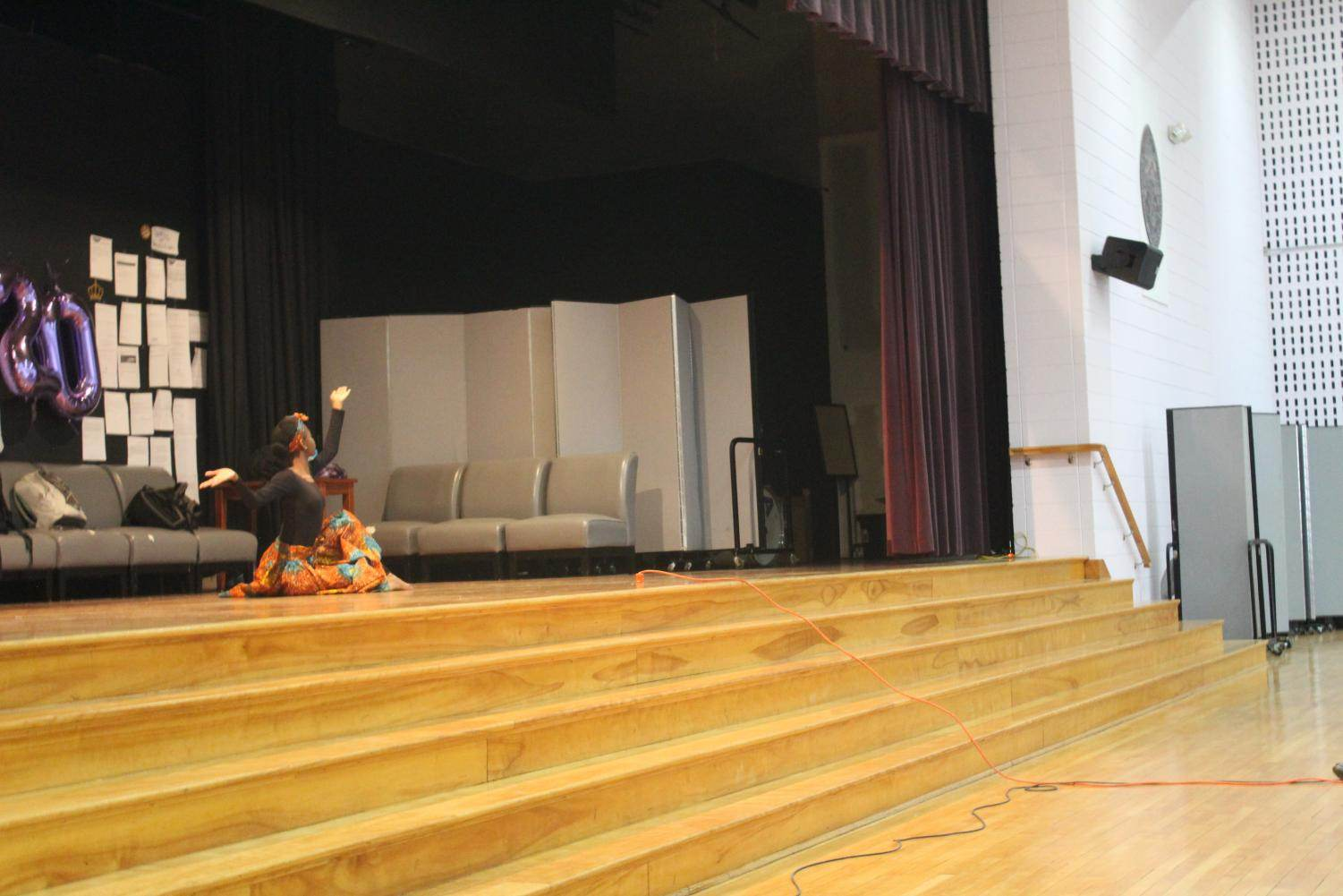 Faith performing a special dance for the Onyx Club assembly.