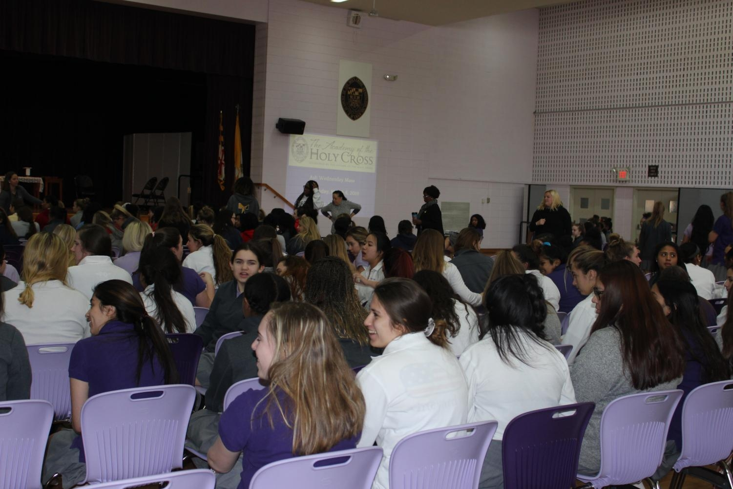 Ash Wednesday Mass at the Academy