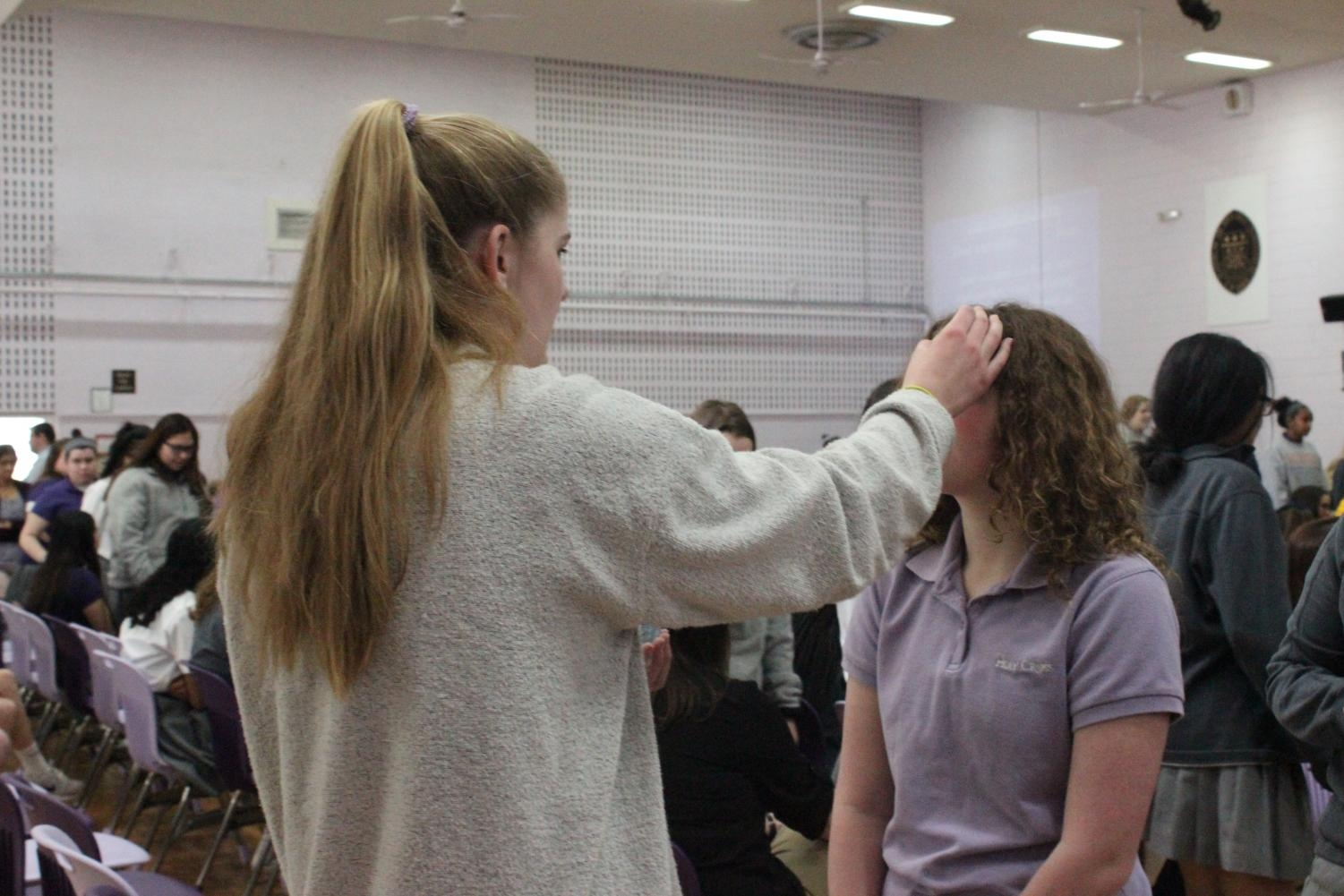 Receiving ashes on Ash Wednesday