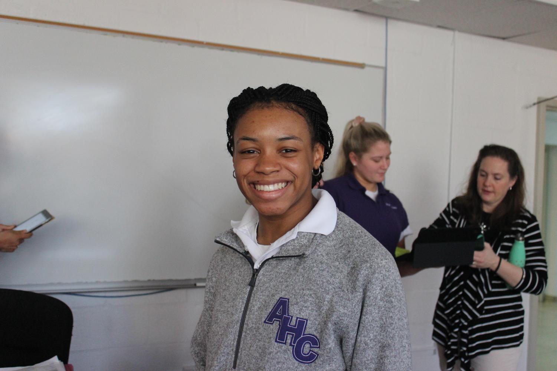 Junior Kierra Marshall in IB Economics.