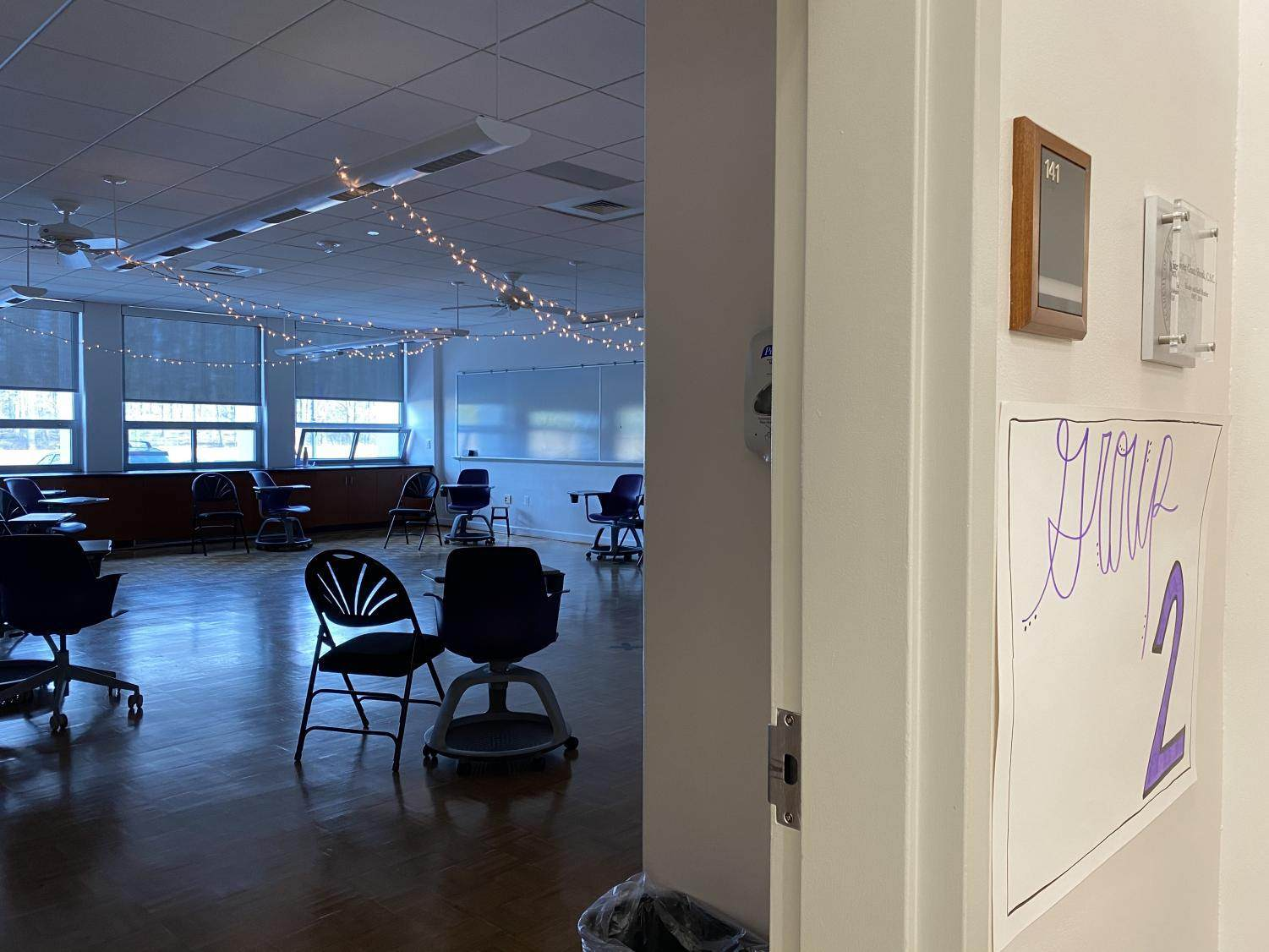A decorated classroom for Kairos 92