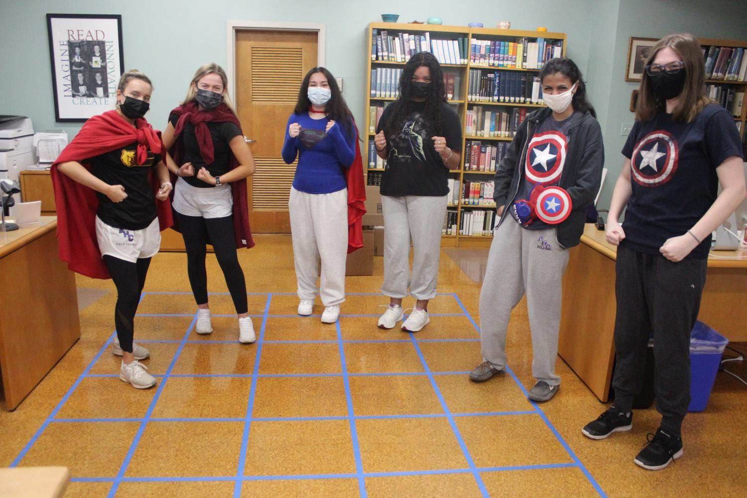Senior Superheroes for the first day of Spirit Week.