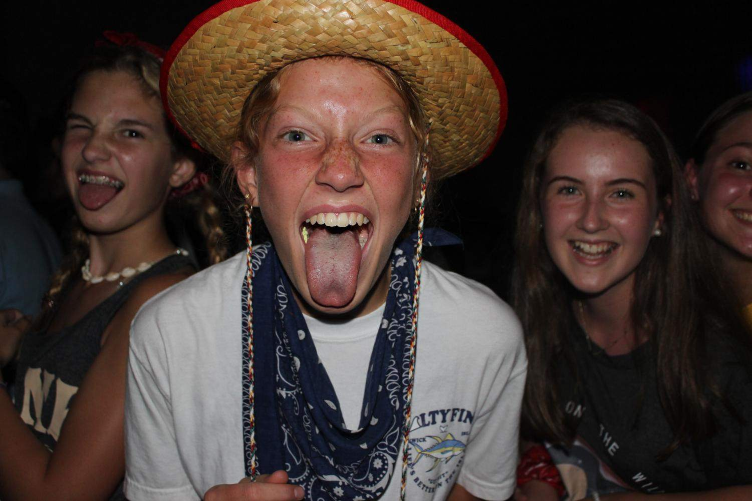 Sophmore, Ella Burke, showing her country spirit