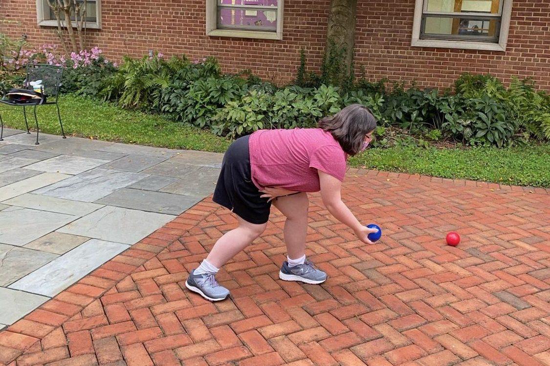 Senior Abby Gehres makes her move.