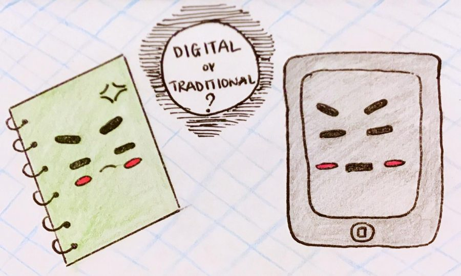 An+angry+notebook+beside+an+angry+tablet+%28illustrated+by+Riana+Tadonki%29