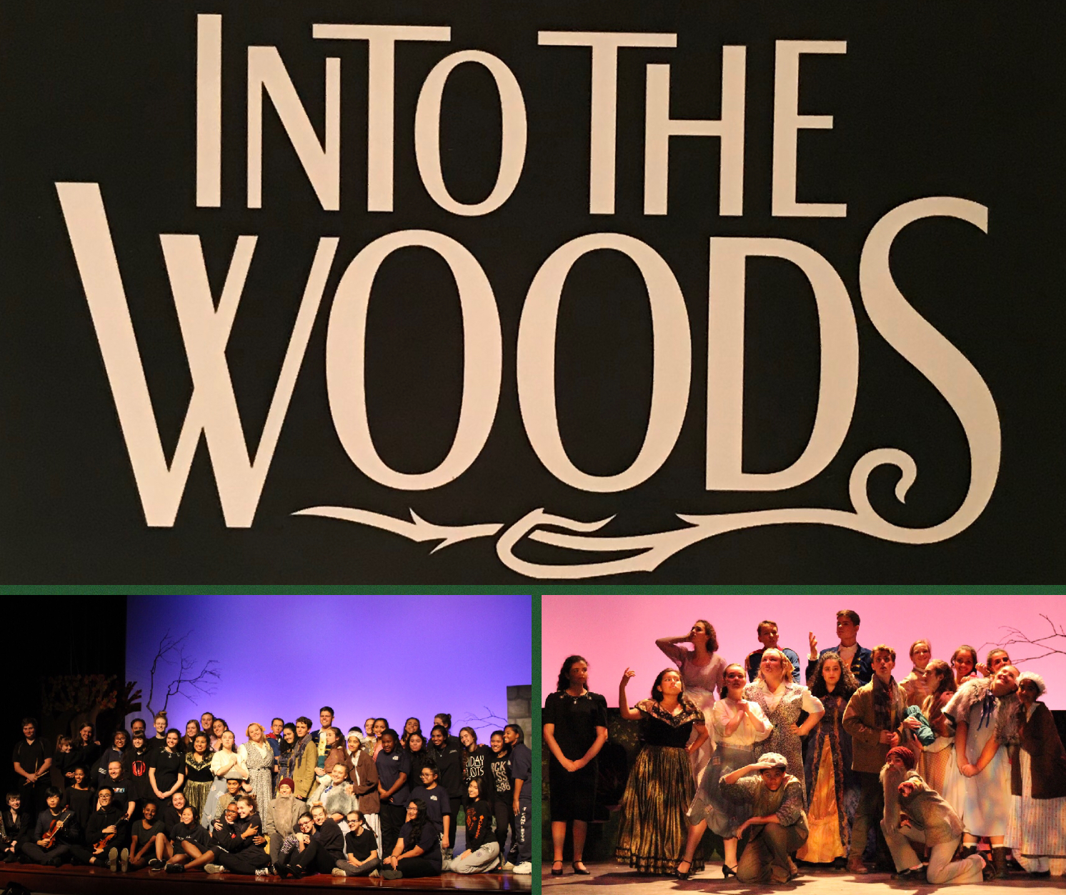 The cast and crew of Into the Woods. Collage by Dani Lock.