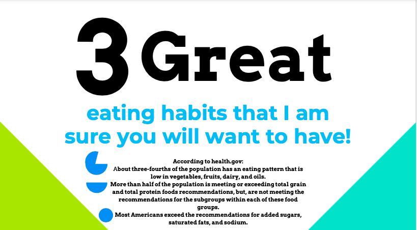 3 Great Eating Habits!