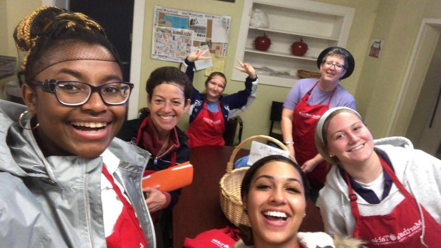 Students and teachers volunteering at McKenna's Wagon