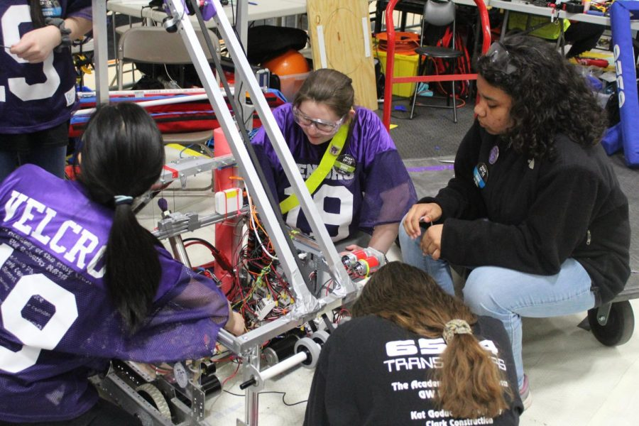AHC Transformers working hard on Fortuity, their robot