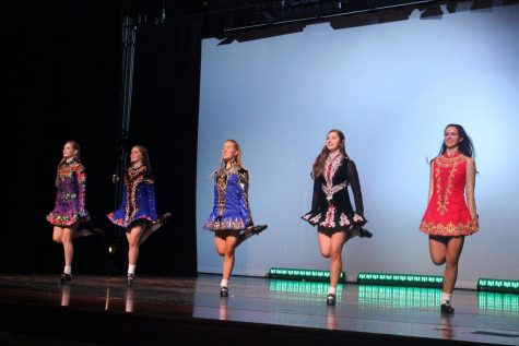 Irish Dance Club members performing at the Winter Dance Concert.