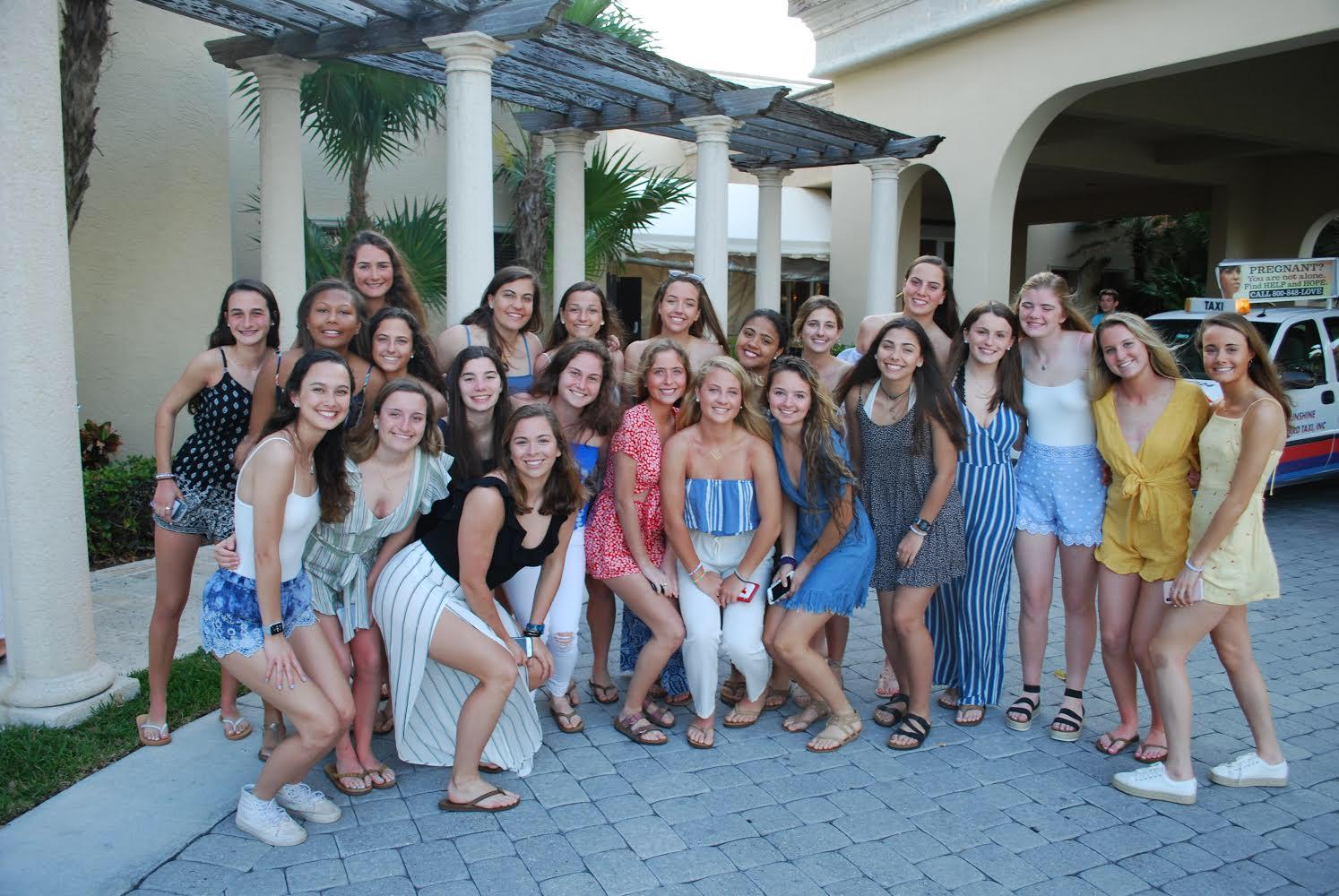 The AHC varsity lacrosse team in Del Ray, Florida over spring break.