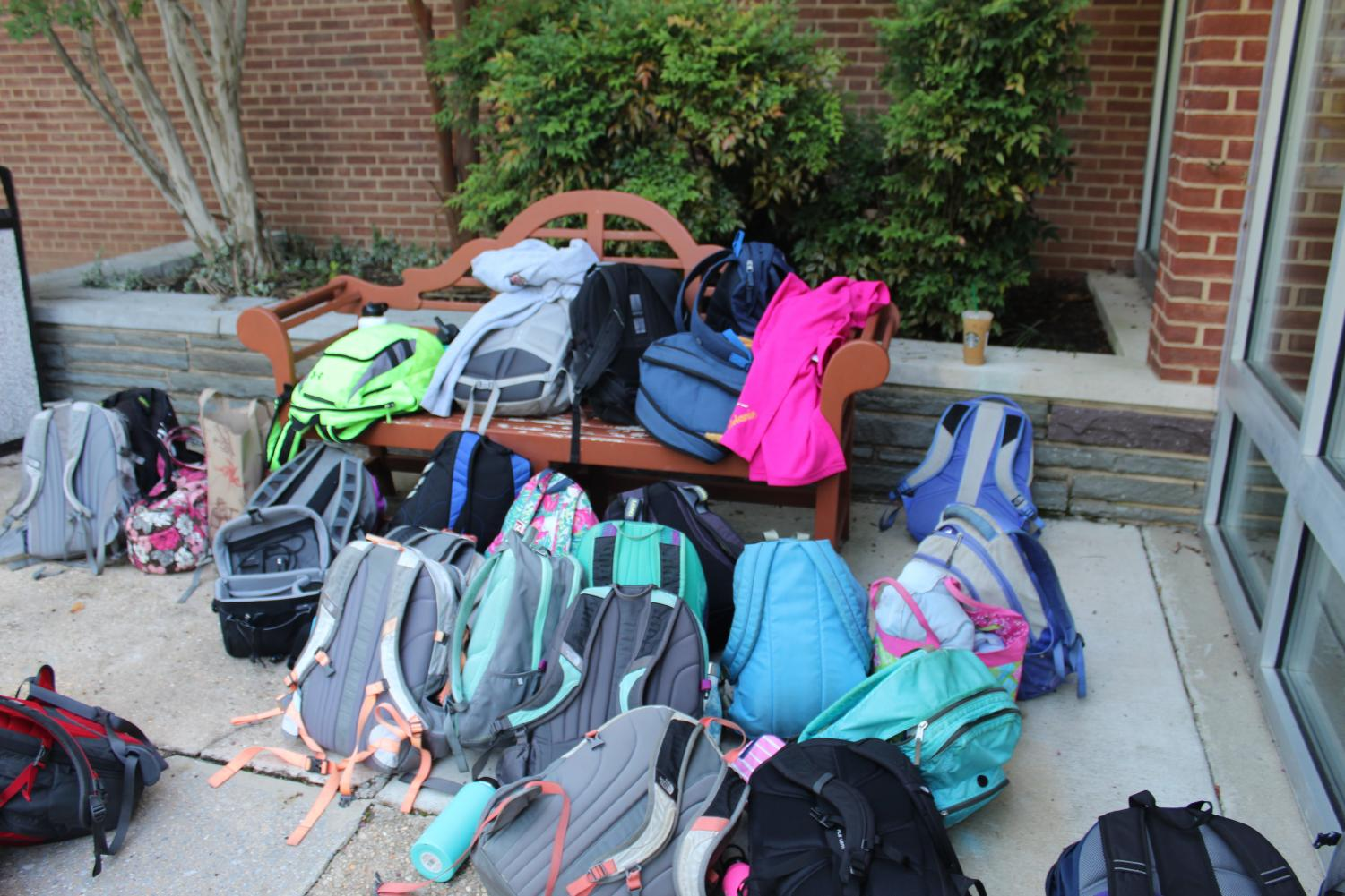 LOTA backpacks ready for the first day of school.