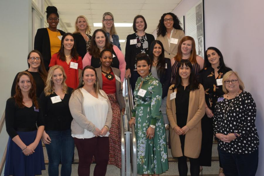 Tartan+alumnae+share+their+experiences+at+Career+Day.