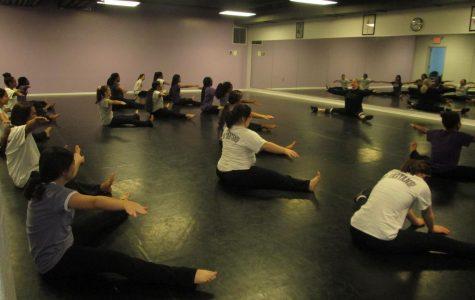 LOTAs warming up before dance class.