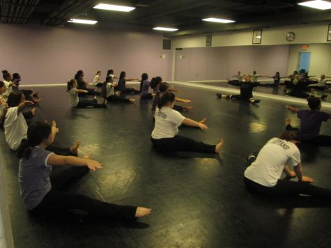 LOTAs warming up before dance class.