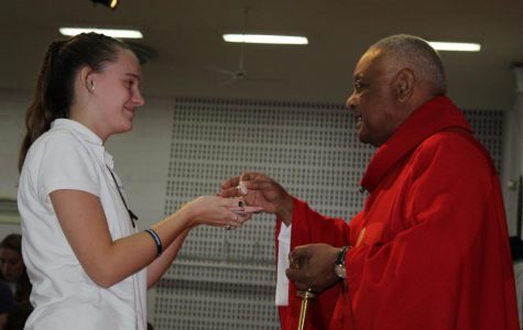 Bishop Gregory Joins in on Holy Cross Day Festivities