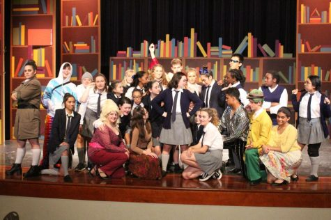 "The cast of ""Matilda"" in their final pose."