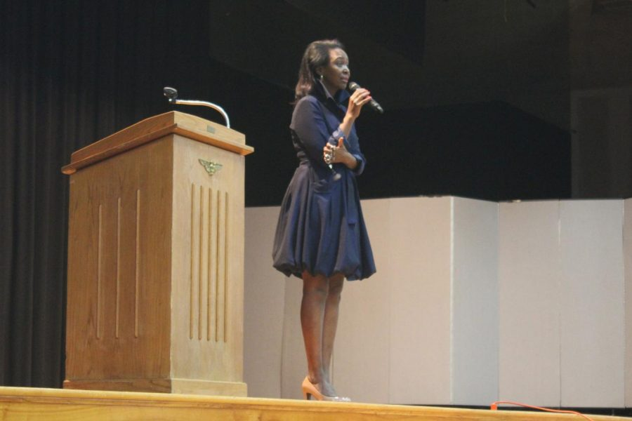 Immaculee Ilibagize spoke to the AHC community about her experience.