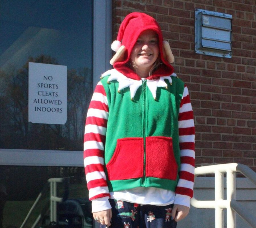 Kelsey Lawson dressing up for the Holiday theme.