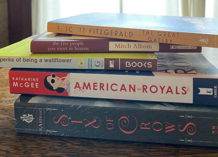 A few of the reporter's books from her bookshelf
