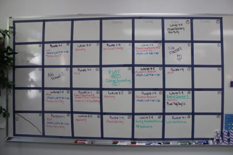 Calendar schedule for the month of October in the SMRP room.