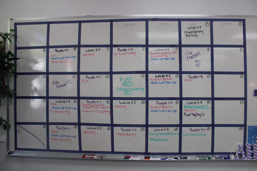 Calendar+schedule+for+the+month+of+October+in+the+SMRP+room.